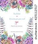 background  template postcard... | Shutterstock . vector #425112517