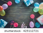 birthday background. birthday... | Shutterstock . vector #425112721