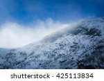 wind on snowy mountain | Shutterstock . vector #425113834