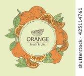 background with orange . hand...   Shutterstock .eps vector #425114761