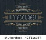 vintage typographic label...   Shutterstock .eps vector #425116354