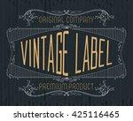 vintage typographic label... | Shutterstock .eps vector #425116465