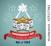 4 july independence day festive ... | Shutterstock .eps vector #425117461