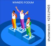 athletic events victory podium... | Shutterstock .eps vector #425119405