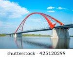 Bugrinsky Bridge In Novosibirs...