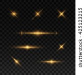 glowing lights and stars.... | Shutterstock .eps vector #425123215