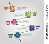 timeline infographic template... | Shutterstock .eps vector #425125141