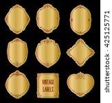 set of golden label vector... | Shutterstock .eps vector #425125771