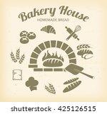 bakery icon set | Shutterstock . vector #425126515