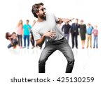young man funny expression | Shutterstock . vector #425130259