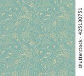 Stock vector vector flower pattern botanical seamless texture wedding scrapbook surface textures gift 425130751