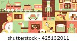 children toys abstract... | Shutterstock .eps vector #425132011