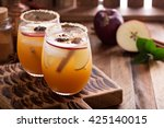 apple cider cocktail with... | Shutterstock . vector #425140015