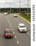 city road vehicles  blur | Shutterstock . vector #425141995