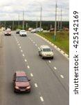 city road vehicles  blur | Shutterstock . vector #425142169