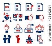 vote icon set | Shutterstock .eps vector #425142814