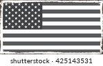 grunge american flag.vector... | Shutterstock .eps vector #425143531