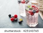 sparkling water with mint ... | Shutterstock . vector #425143765
