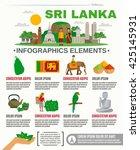 infographic showing major... | Shutterstock .eps vector #425145931