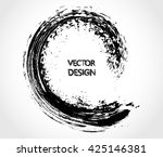 vector brush wave.grunge... | Shutterstock .eps vector #425146381