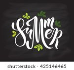 summer colorful vector banner...   Shutterstock .eps vector #425146465