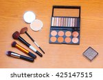 makeup palettes and cosmetics... | Shutterstock . vector #425147515