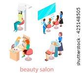 isomeric interior of beauty... | Shutterstock . vector #425148505