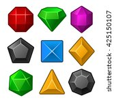 set of multicolored gems for... | Shutterstock . vector #425150107