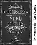 burger poster menu sketch... | Shutterstock .eps vector #425152861