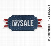 memorial day sale patriotic... | Shutterstock .eps vector #425153275