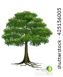 tree with a realistic | Shutterstock .eps vector #425156005
