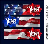 america independence day banner.... | Shutterstock .eps vector #425156464