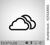 outline clouds icon   Shutterstock .eps vector #425163001