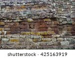 Old Stone Wall Of Castle