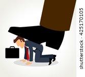 simple cartoon of a businessman ...   Shutterstock .eps vector #425170105