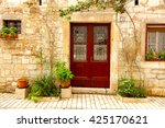 medieval street in croatia. | Shutterstock . vector #425170621