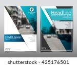 blue technology annual report...   Shutterstock .eps vector #425176501