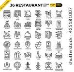 restaurant food business pixel... | Shutterstock .eps vector #425181007