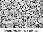 Heap Of Grey Dry Round Stones...