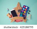 back to school badge design...   Shutterstock . vector #425188795