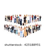 achievement idea united company  | Shutterstock . vector #425188951