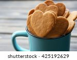 Heart Shaped Biscuits In Metal...