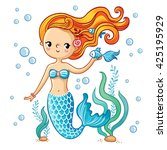 Sea Collection  Mermaid. Cute ...