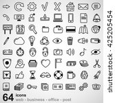 set of universal icons for web... | Shutterstock .eps vector #425205454