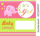 baby shower colorful card... | Shutterstock . vector #425209957
