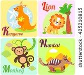 cute animal alphabet for abc...   Shutterstock . vector #425210815