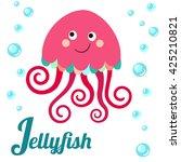cute animal alphabet. j letter. ...   Shutterstock . vector #425210821