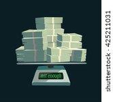 not enough money. concept... | Shutterstock .eps vector #425211031