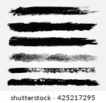 hand drawn brushes.grunge brush ... | Shutterstock .eps vector #425217295