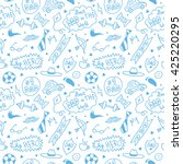 seamless pattern for happy... | Shutterstock .eps vector #425220295
